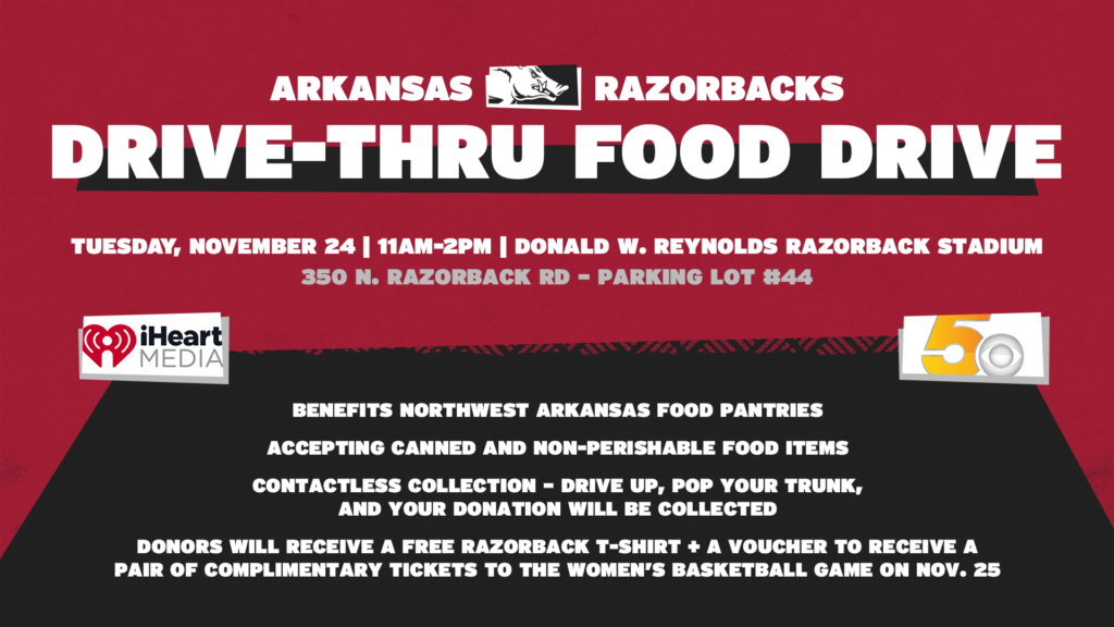 Hogs Call on Community to Join in Food Drive