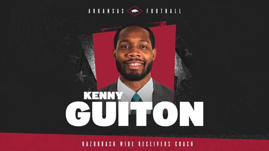 Guiton joins Razorbacks as WR coach