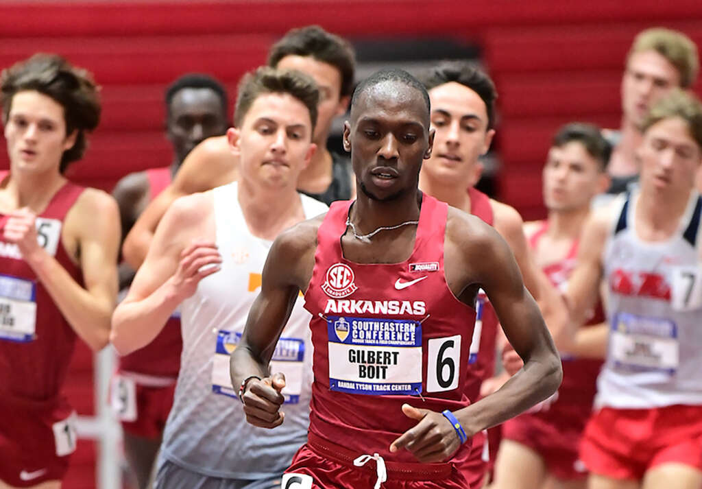 50-point day propels Razorbacks into lead at SEC Indoor