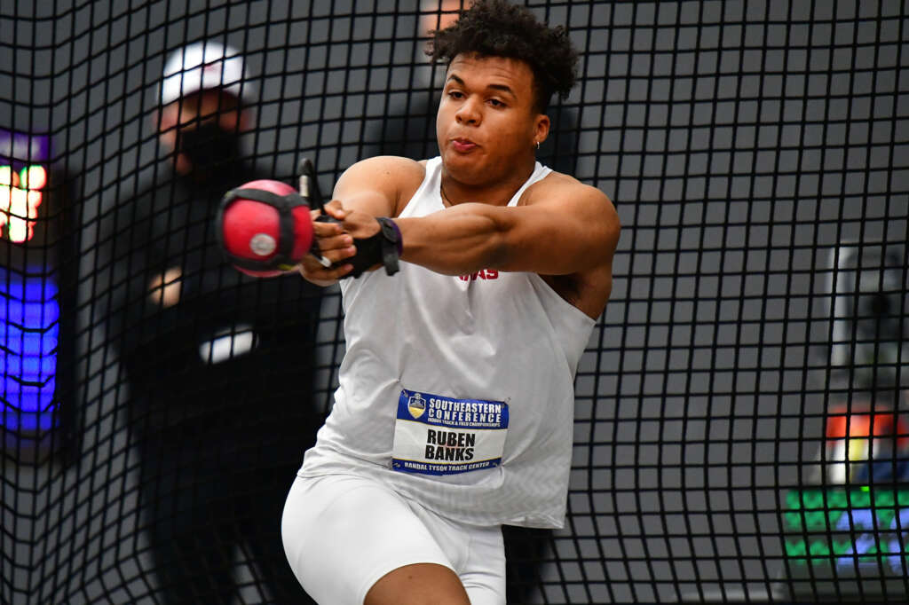 Ruben Banks' big mark places fourth in SEC weight throw