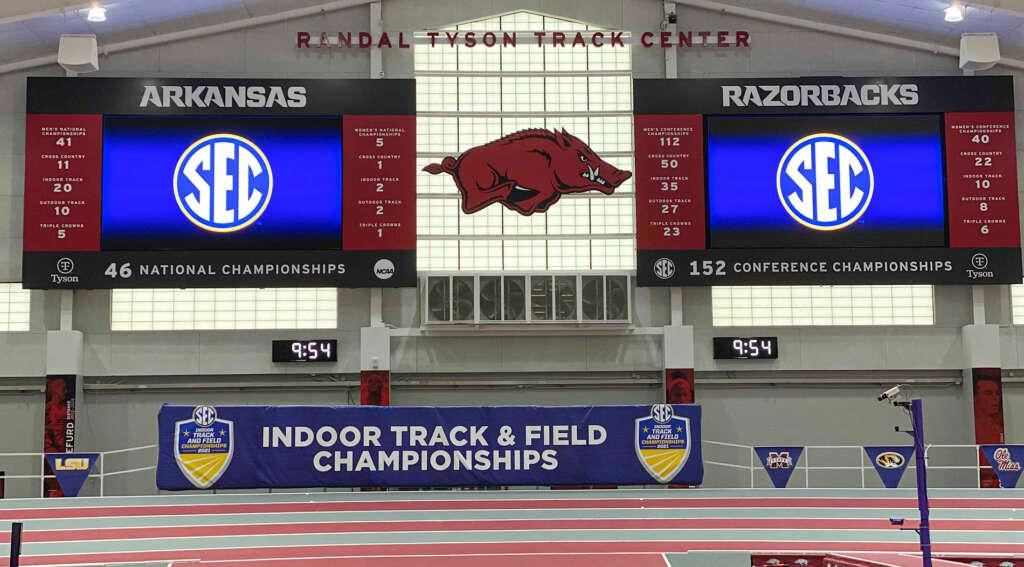 No. 3 Razorbacks prepared for SEC Indoor title defense at Tyson Center