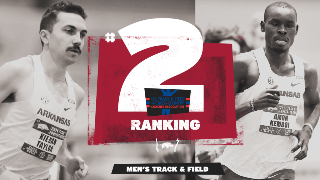 Arkansas improves to No. 2 after weekend of robust marks