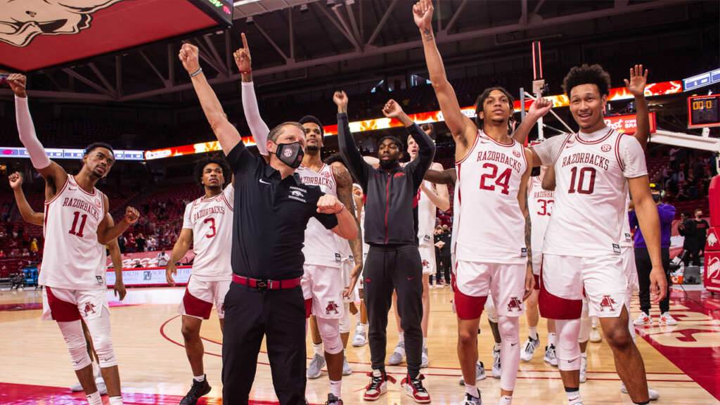 Arkansas MBB Up to #12 in AP Poll / #13 by Coaches