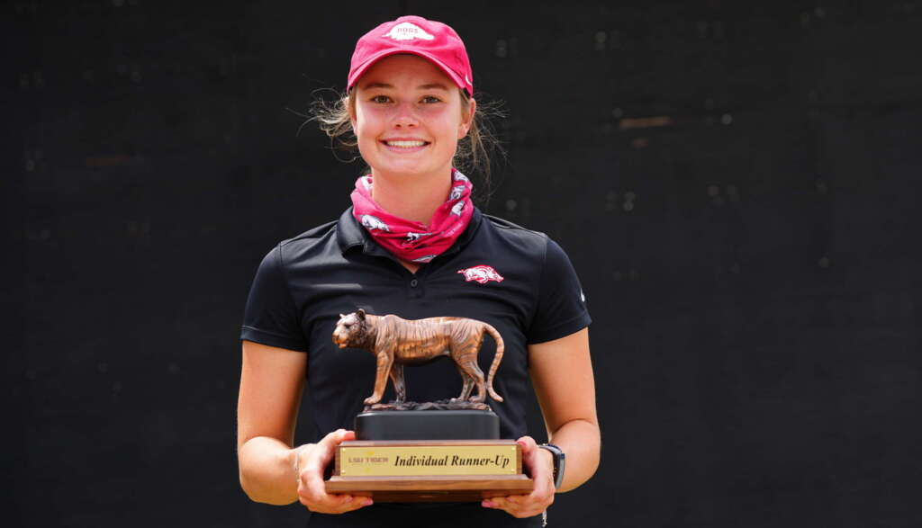 Arkansas Finishes Fifth, Matthews Finishes Second, At LSU Tiger Golf Classic