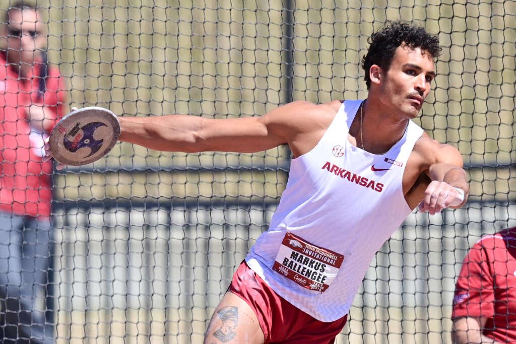 Markus Ballengee breaks decathlon meet record among five Arkansas victories