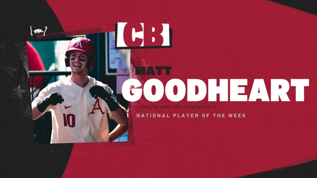 Goodheart Named Collegiate Baseball National Player of the Week