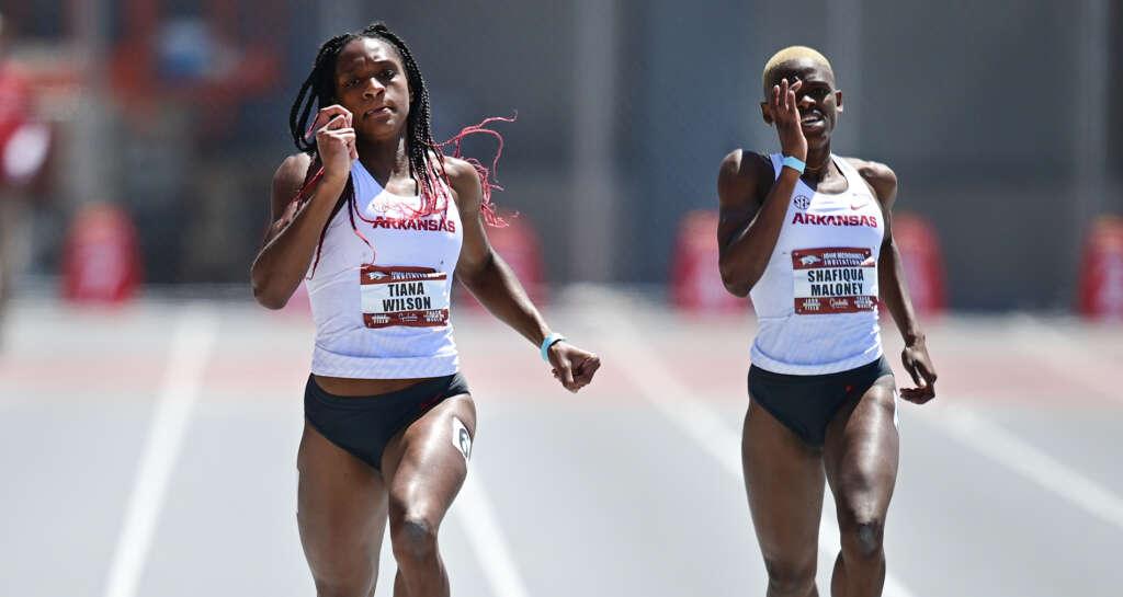 Tiana Wilson breaks 400m meet record, Razorbacks total five wins