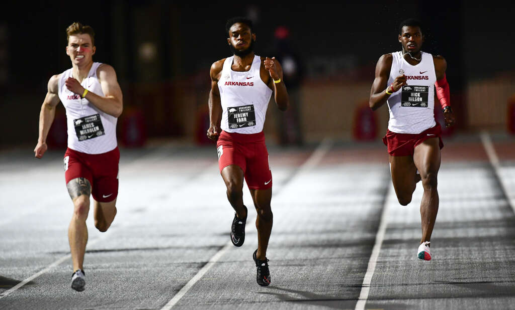 Razorbacks productive in Arkansas Twilight despite weather
