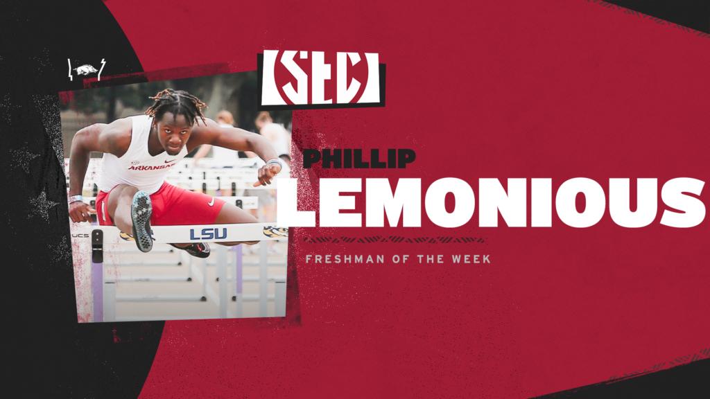 Phillip Lemonious earns SEC Freshman of the Week honor