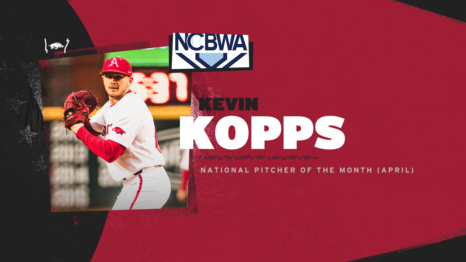 Kopps Named NCBWA National Pitcher of the Month