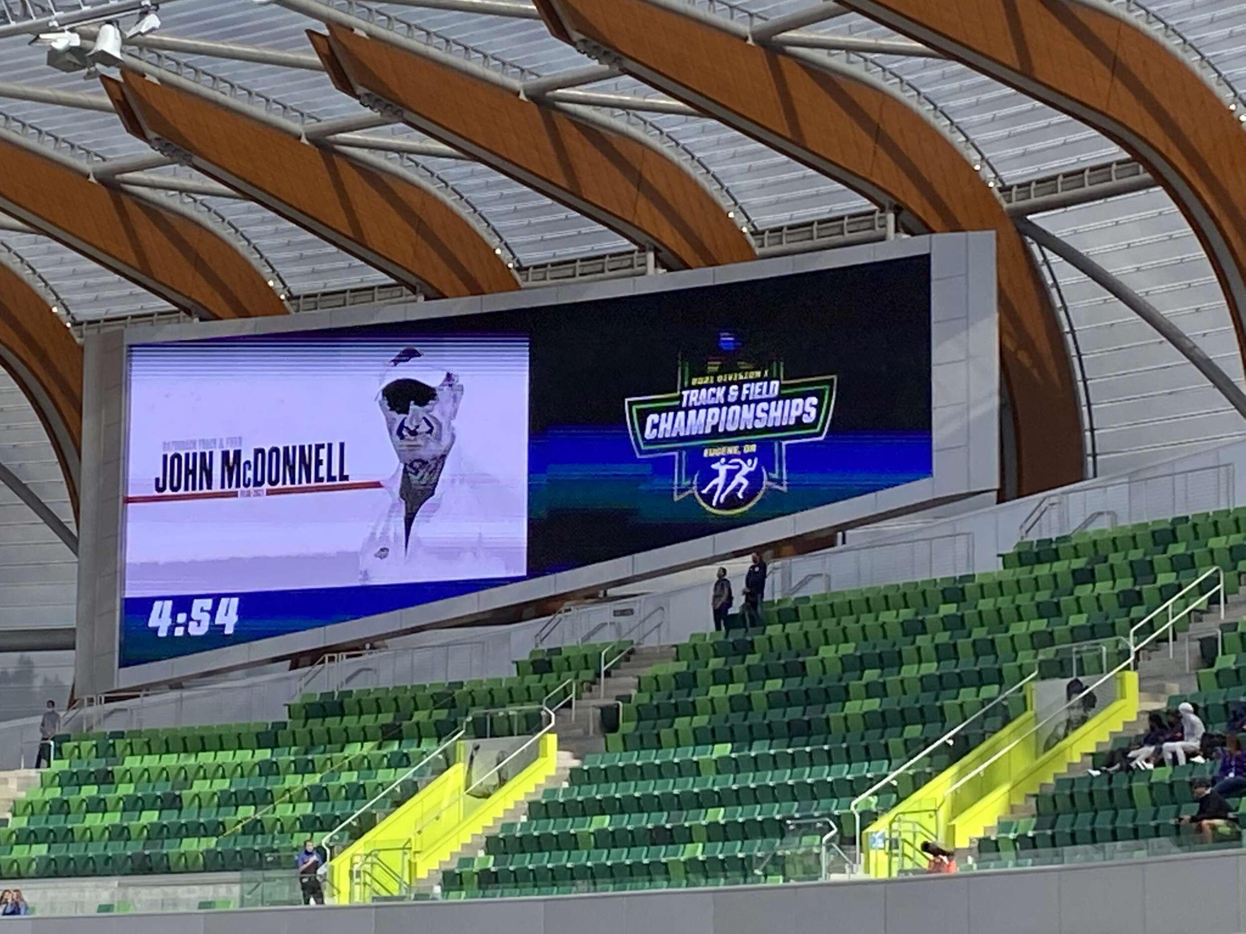 Tribute to John McDonnell During NCAA Championships   Arkansas Razorbacks