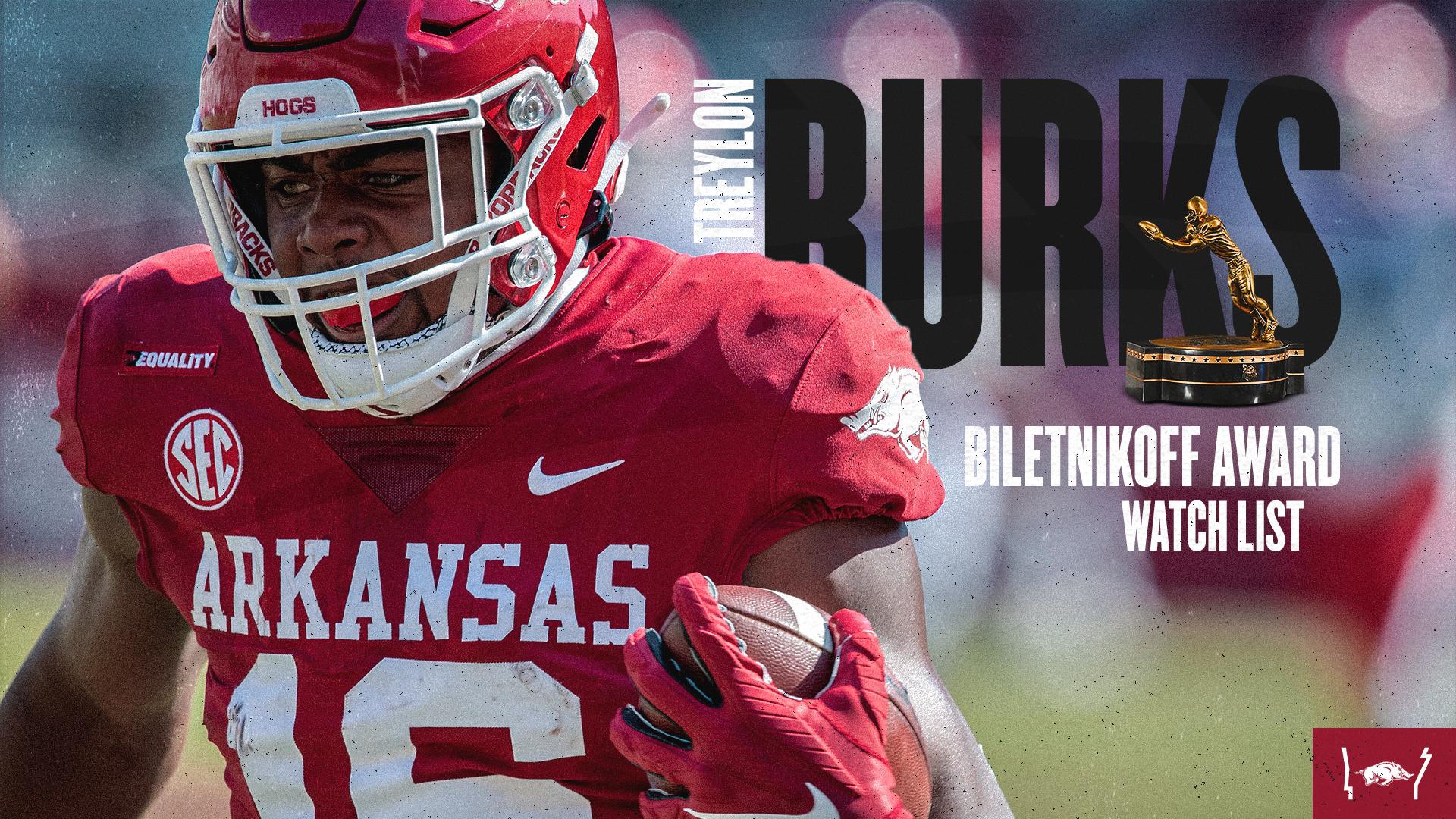 Burks Lands on Biletnikoff Award Watch List | Arkansas Razorbacks