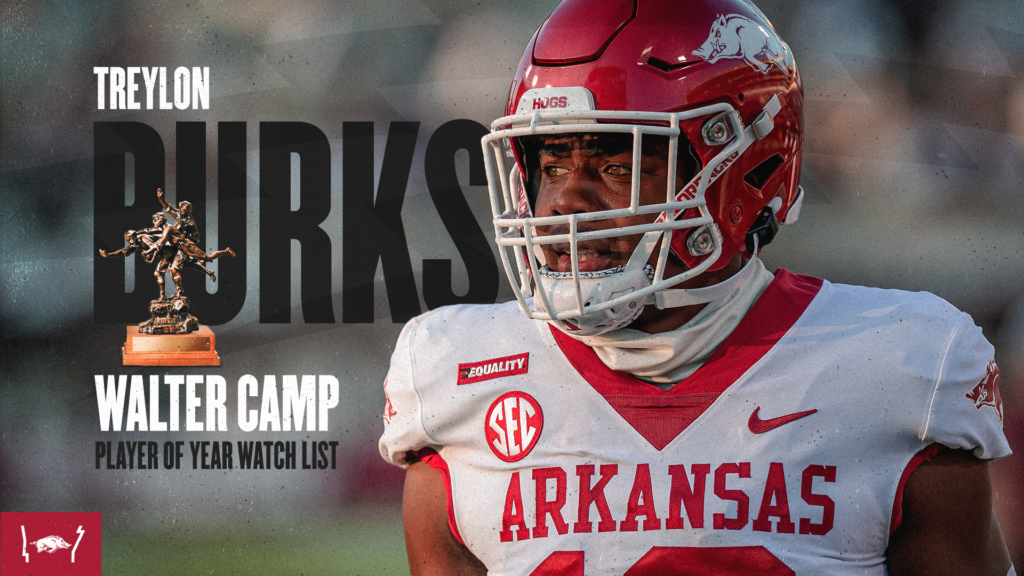 Burks Tabbed to Walter Camp Player of the Year Watch List