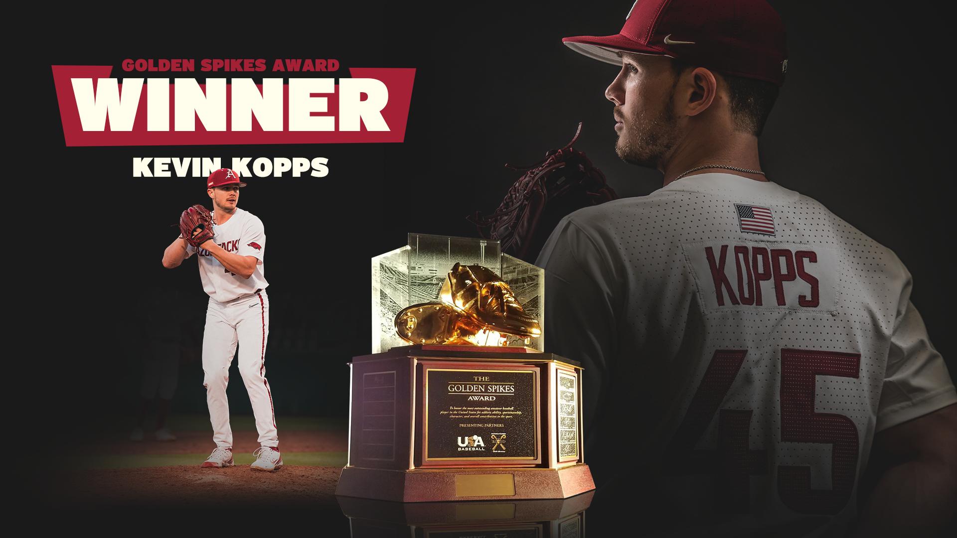 Kopps Wins Golden Spikes Award   Arkansas Razorbacks