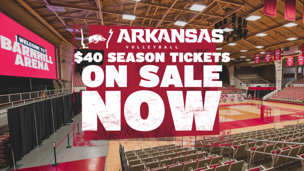 Razorback Volleyball Season Tickets On Sale Now
