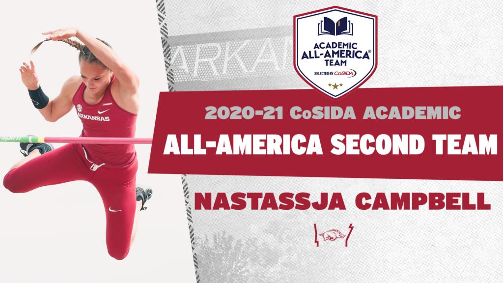 Academic All-America accolade for Razorback Nastassja Campbell