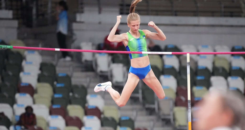 Tina Sutej ties for 5th place in Tokyo Olympic pole vault final