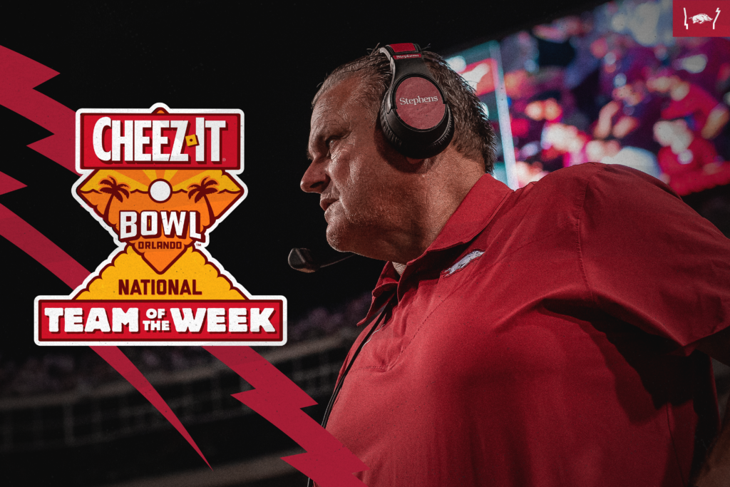 Arkansas Named Cheez-It Bowl National Team of the Week