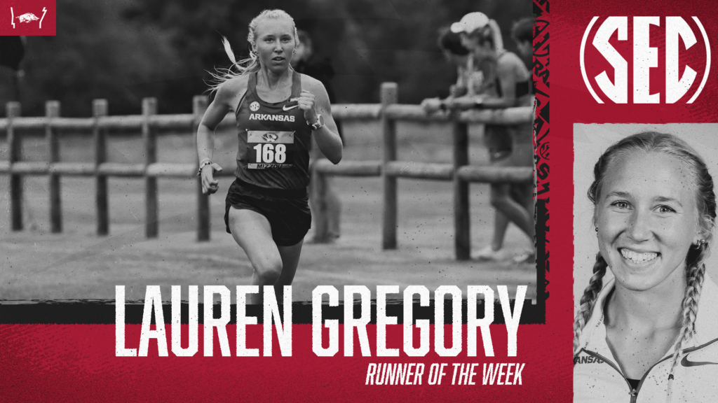 Lauren Gregory collects second SEC Runner of the Week accolade