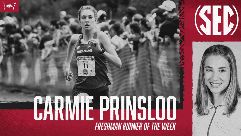 Carmie Prinsloo earns a second SEC Freshman Runner of the Week honor
