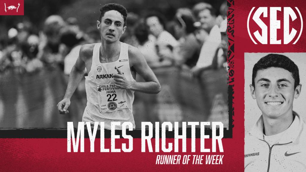 Myles Richter named SEC Runner of the Week